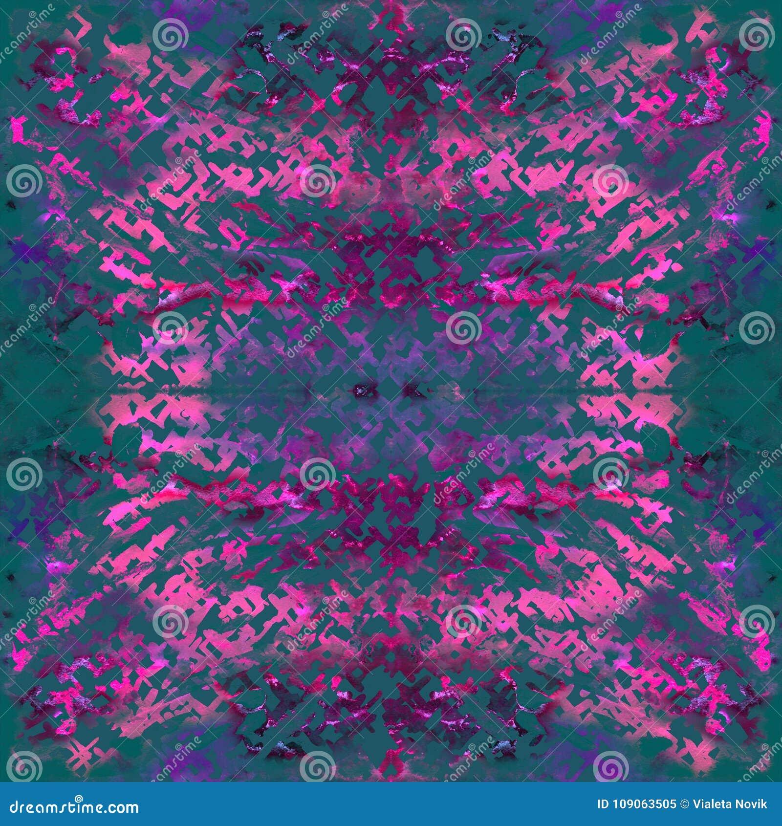 71472182 Tie dye seamless pattern. Hand drawn shibori print. Ink textured japanese  background. Modern batik wallpaper tile. Watercolor endless backdrop.  Colored ...