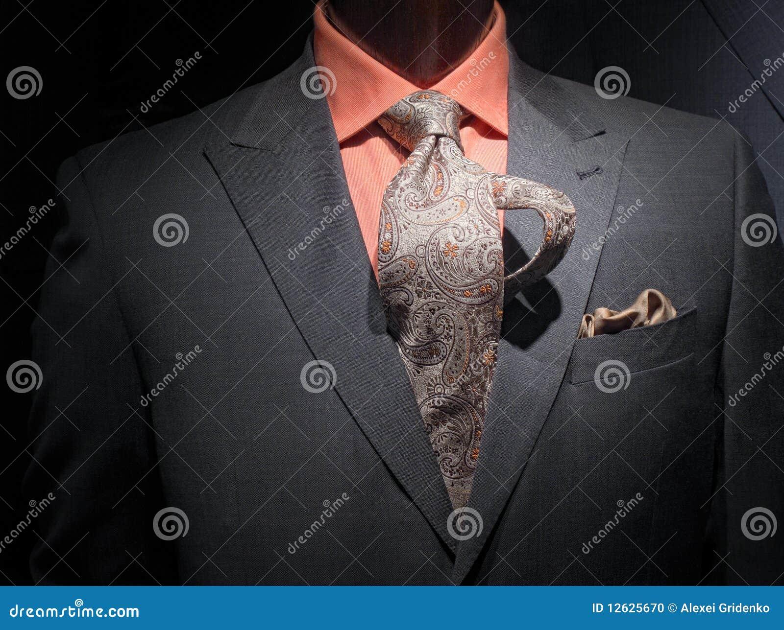 Tie för skjorta för grått handkerchieomslag orange