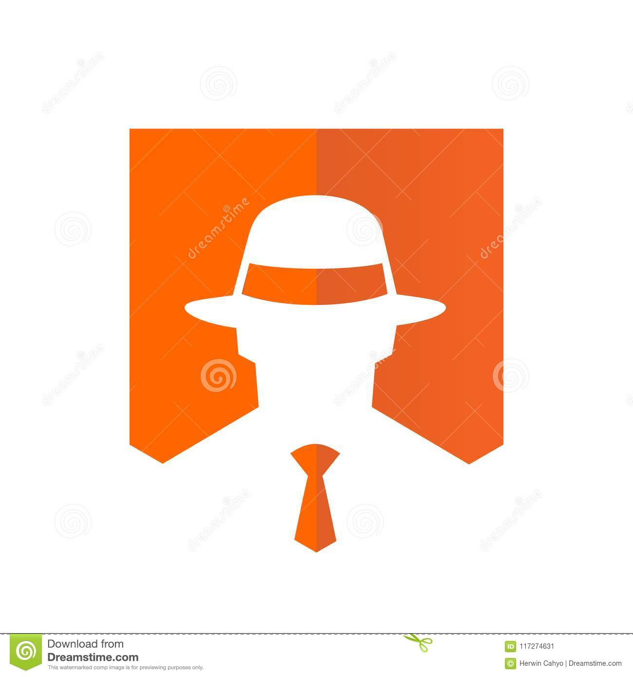 d31a7521 Tie And Fedora Hat Logo, Vector Illustration Design Stock Vector ...