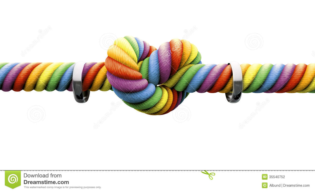 Download Tie The Knot With Rings Gay Marriage Stock Illustration - Illustration of green, isolated: 35540752