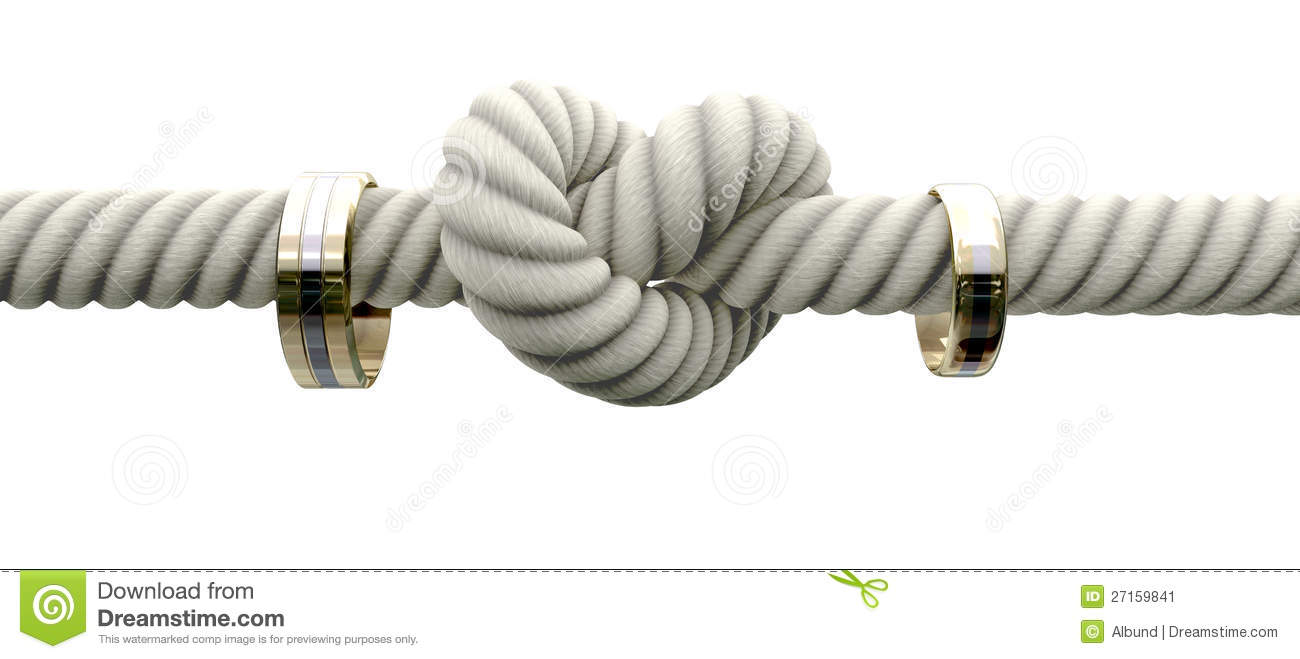 Download Tie The Knot With Wedding Rings Stock Illustration - Illustration of hanging, save: 27159841