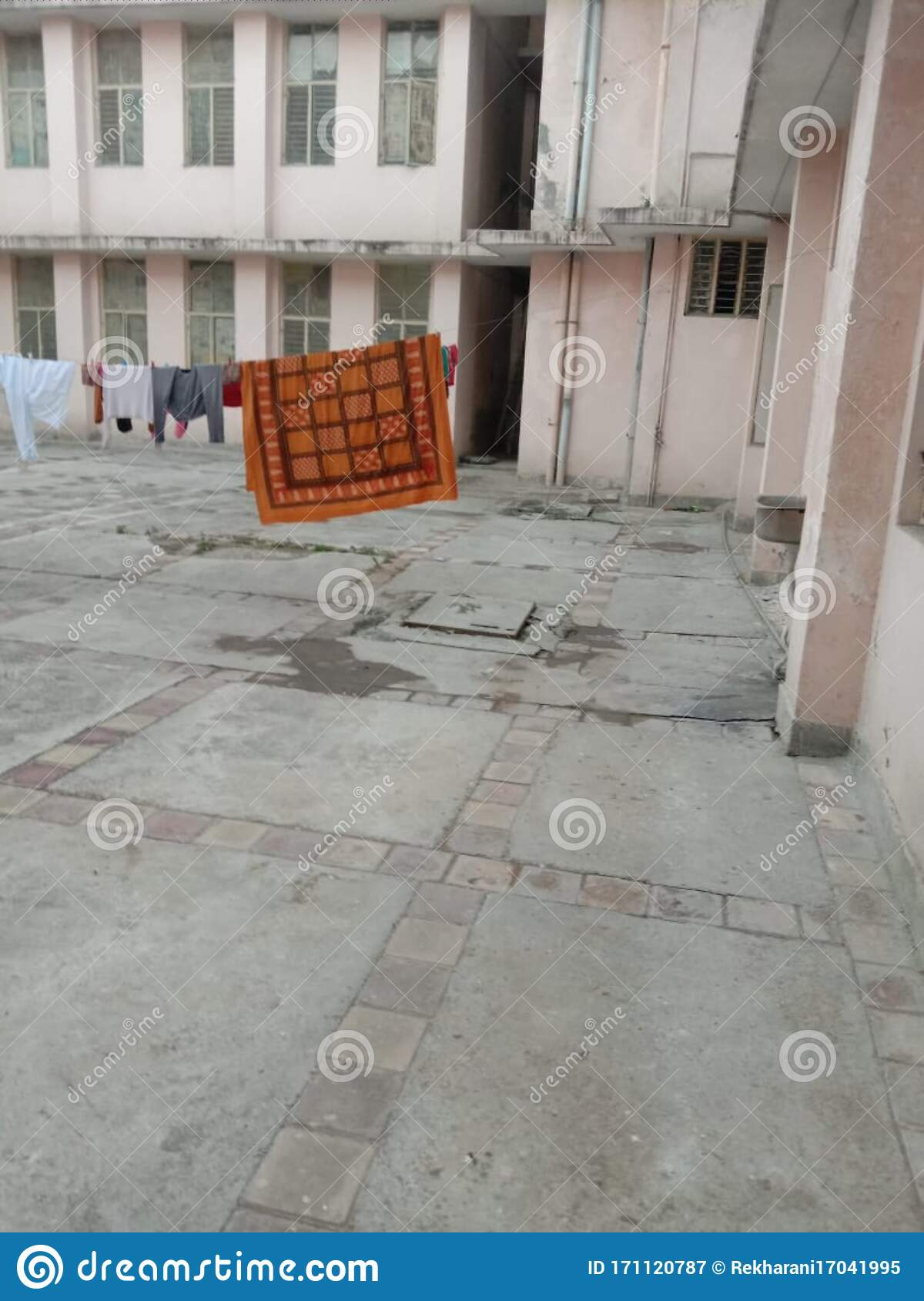 Tie A Rope Outside The Building And Dry The Clothes, This Picture Is From  Meerut Stock Image - Image of meerut, outside: 171120787