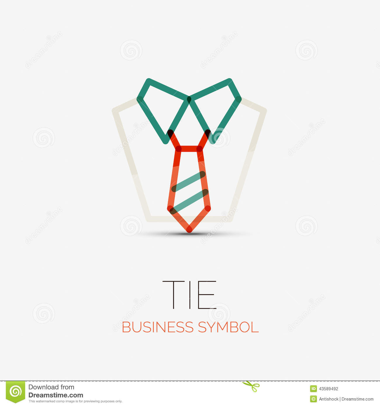 Tie And Shirt Company Logo Business Concept Stock Vector