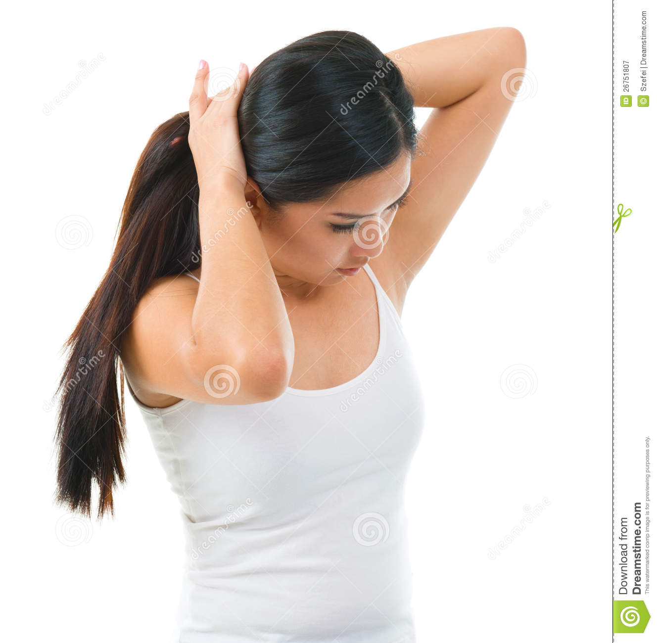 Tie Up Her Long Hair Stock Image Image Of Long Hand