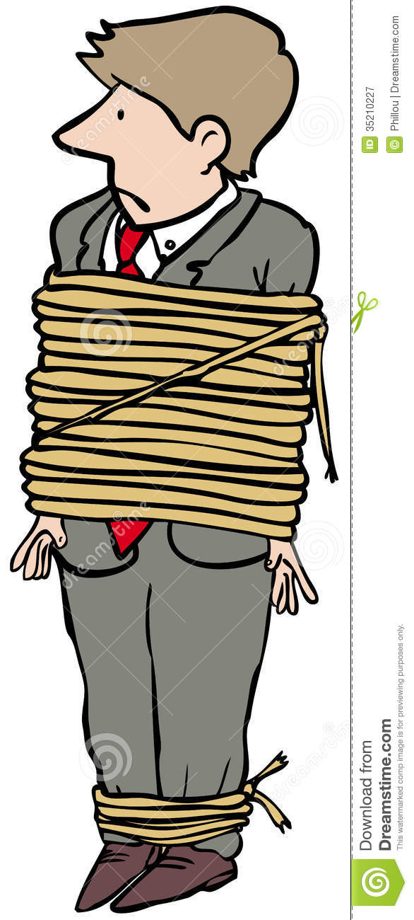 Tied Up Man Royalty Free Stock Photography Image 35210227