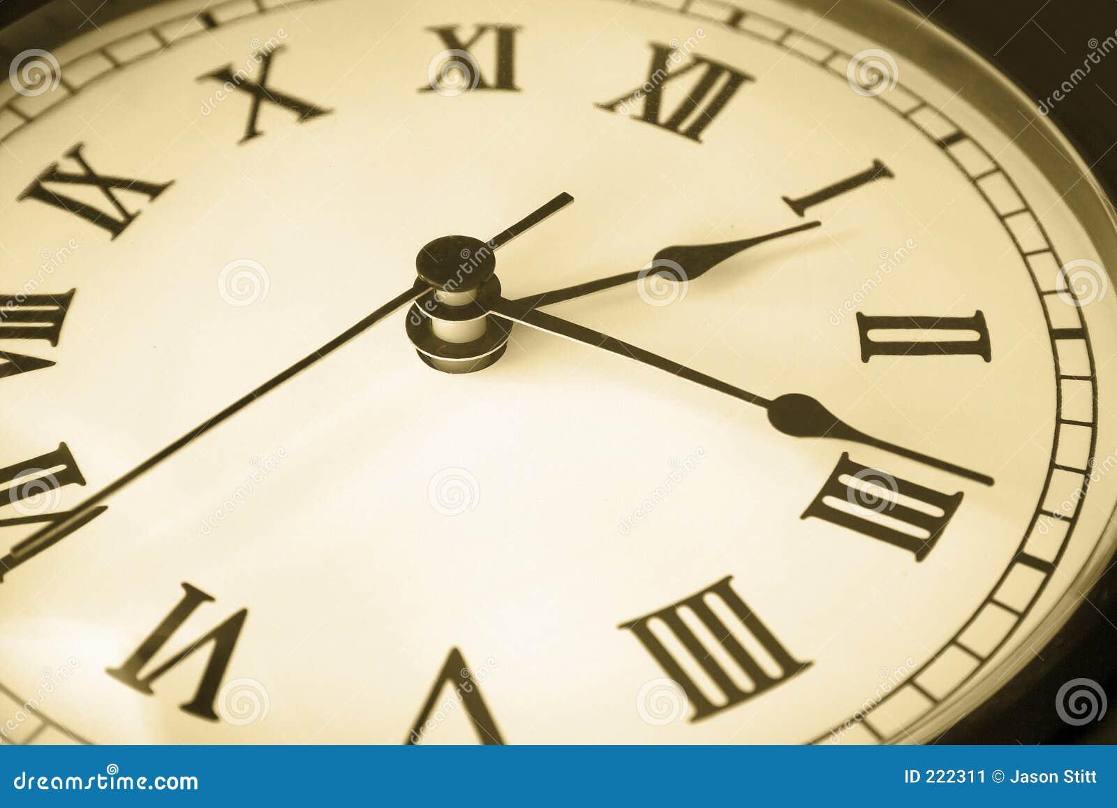 Tiempo de cara de reloj
