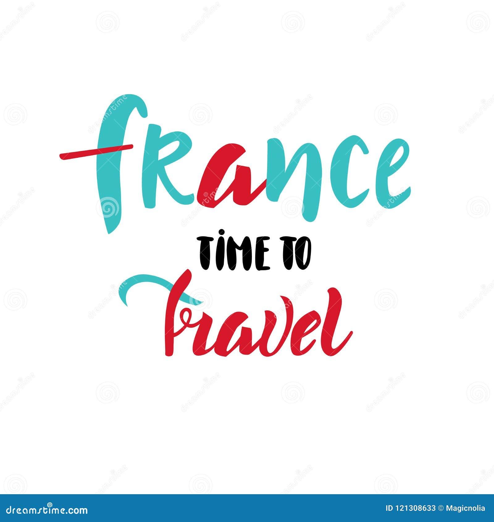 Tiempo De Francia Para Viajar Letras Como Tarjeta De La