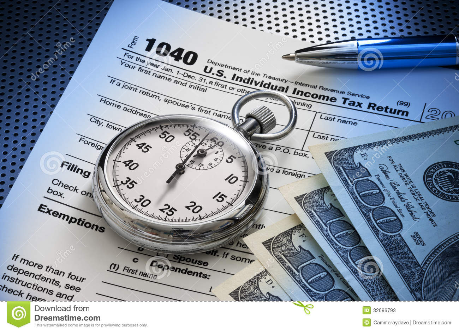Tiempo de 1040 impuestos
