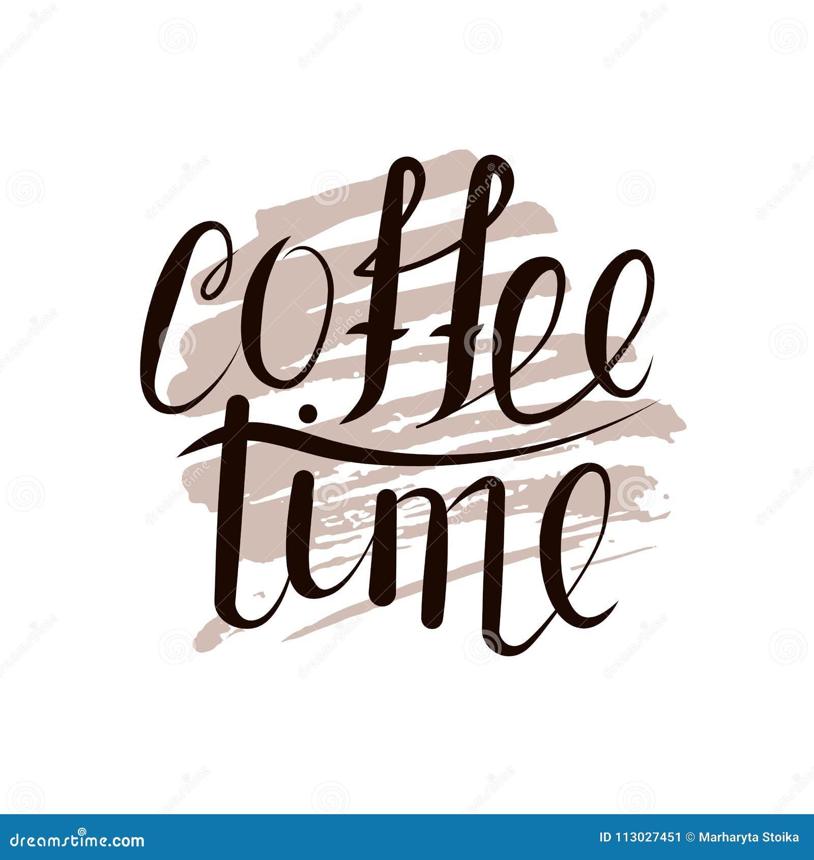 Tiempo de las letras para el café