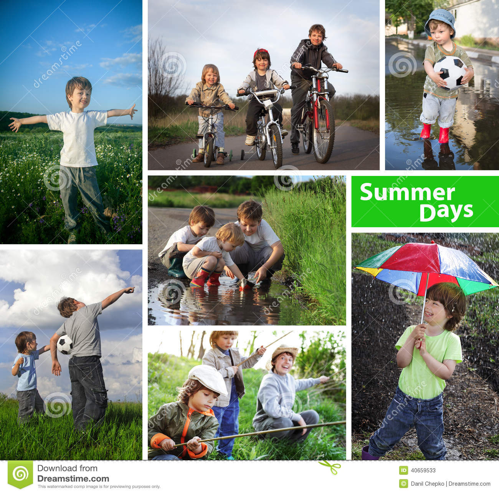 Tiempo de verano feliz de tres hermanos