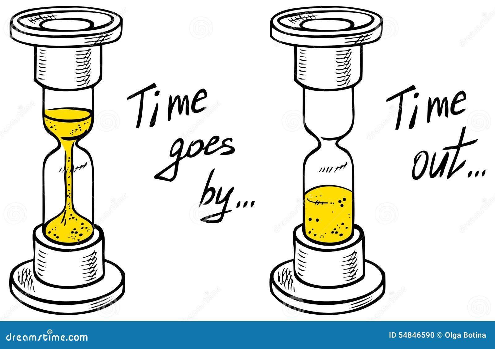 Tiempo Del Dibujo Del Reloj De Arena Ilustración Del