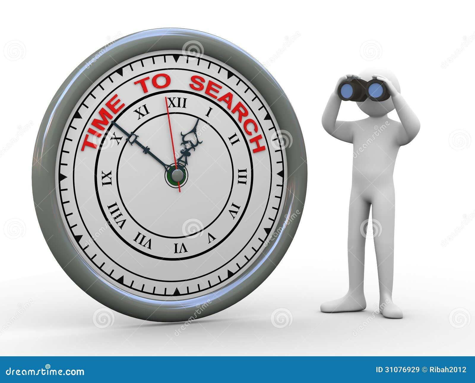 Buscar Stock Hombre Tiempo El Ilustración De Del 3d Para Reloj Yf7bg6y
