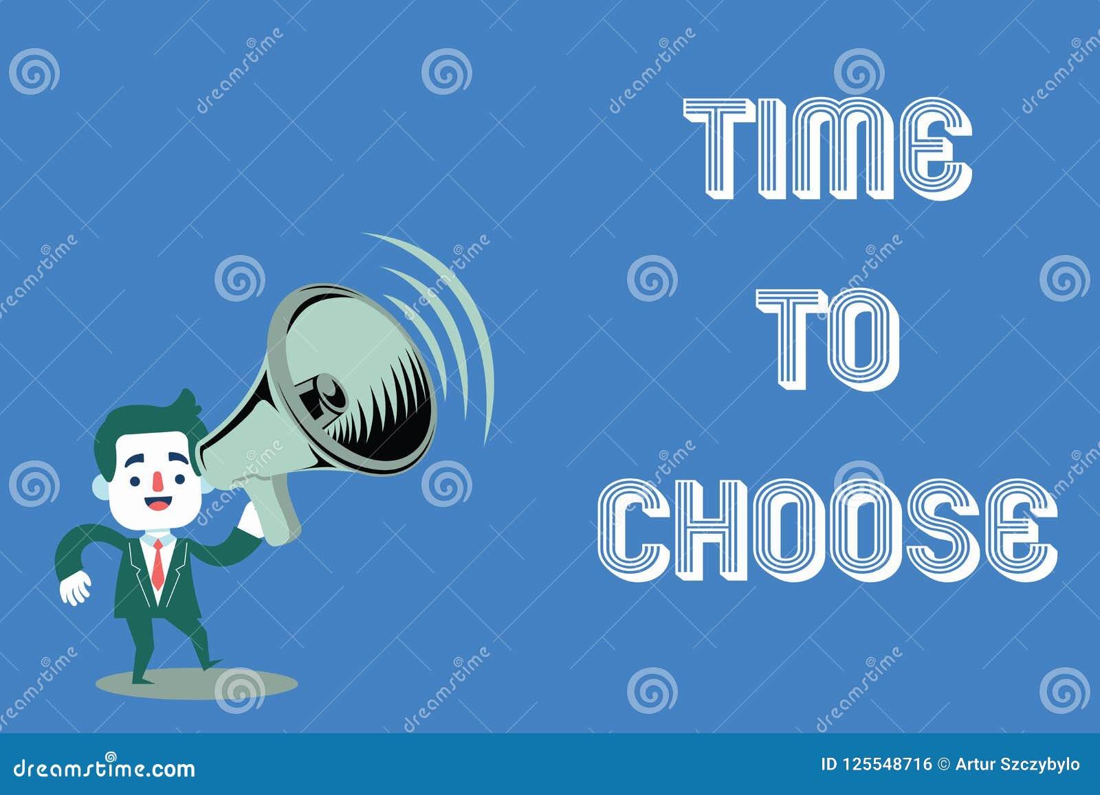 Tiempo del texto de la escritura de la palabra para elegir Concepto del negocio para juzgar los méritos de opciones múltiples y s