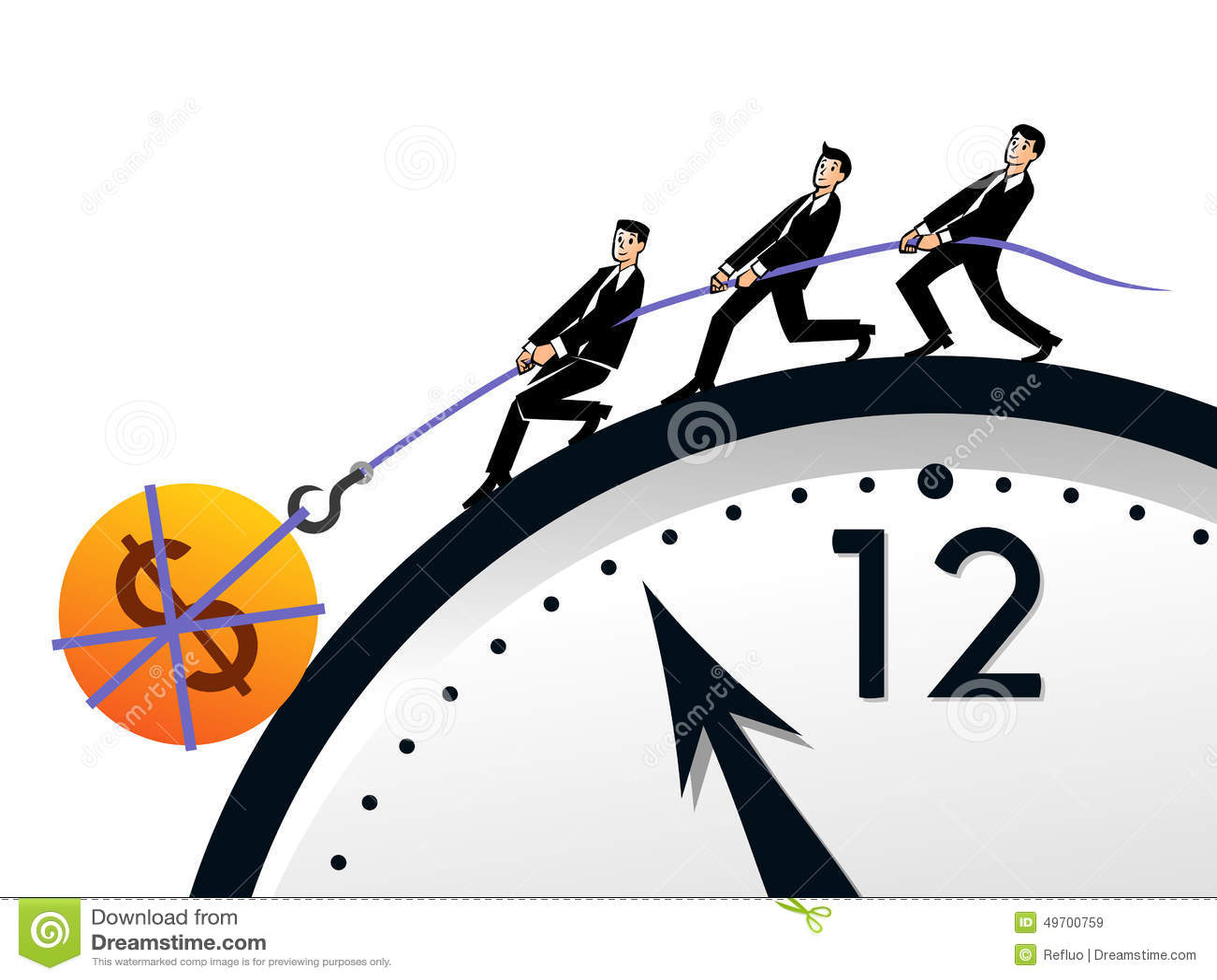 Tiempo y dinero del trabajo en equipo ilustraci n del - Tiempo en paracuellos del jarama ...