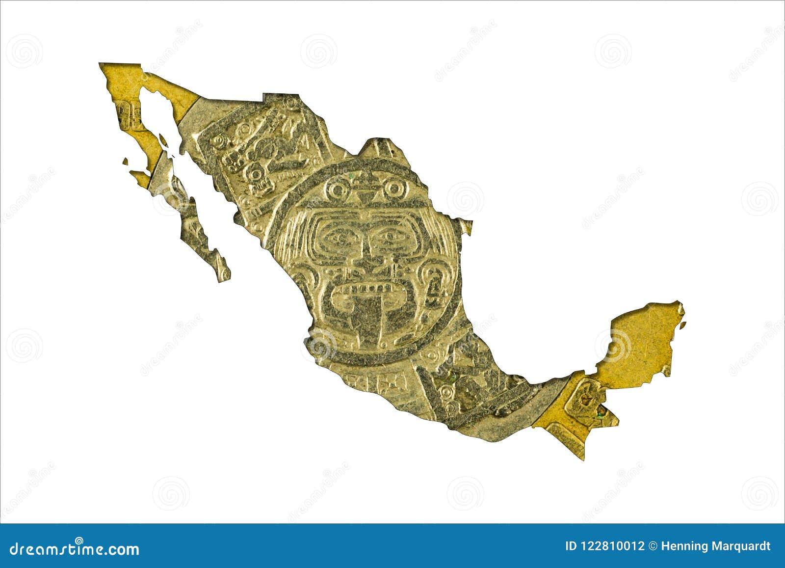 Tien Mexicaans pesomuntstuk 1998 in vorm van Mexico