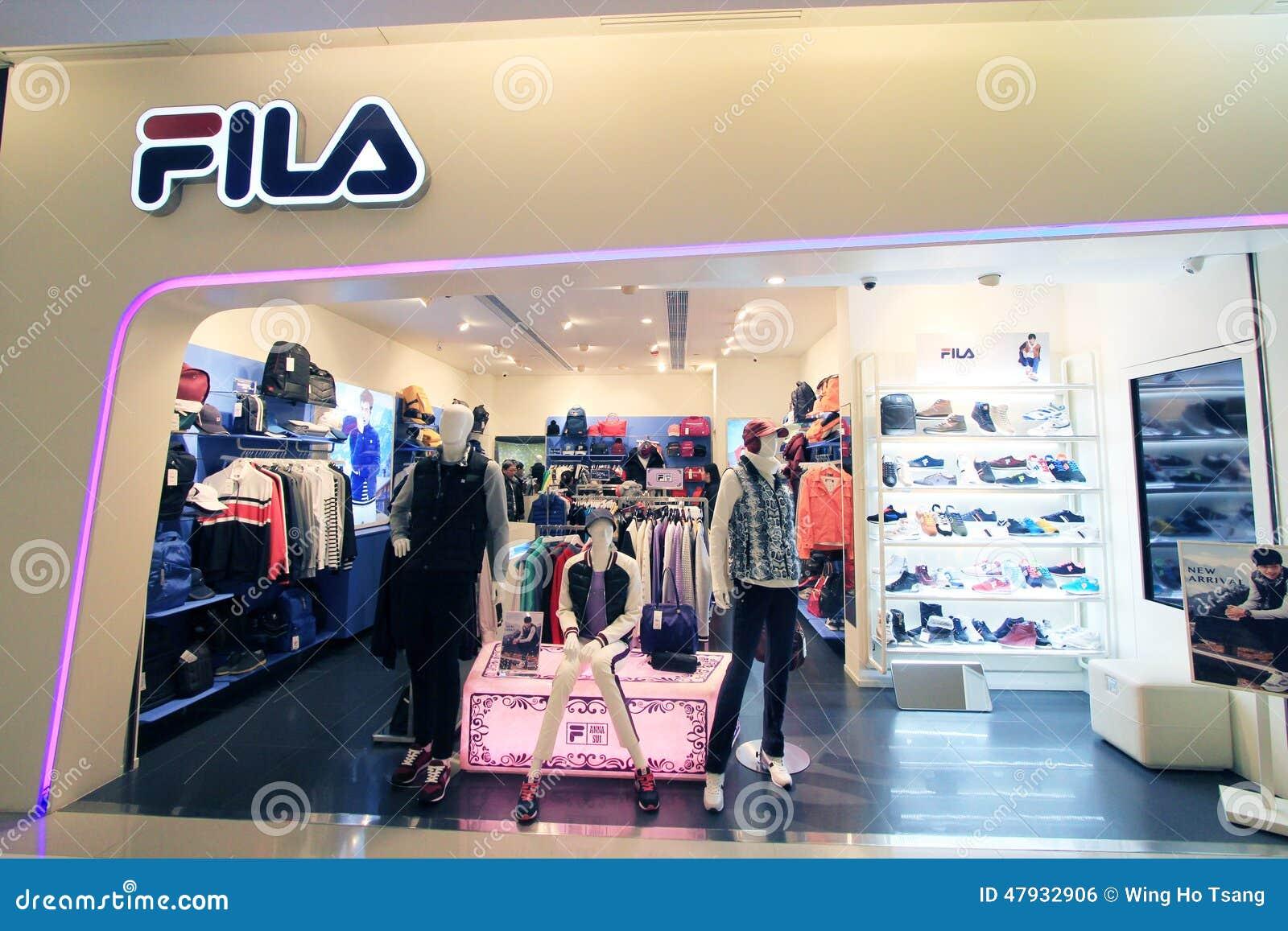 Tienda De FILA En Hong-Kong Foto editorial - Imagen de ... 4f862af6a54