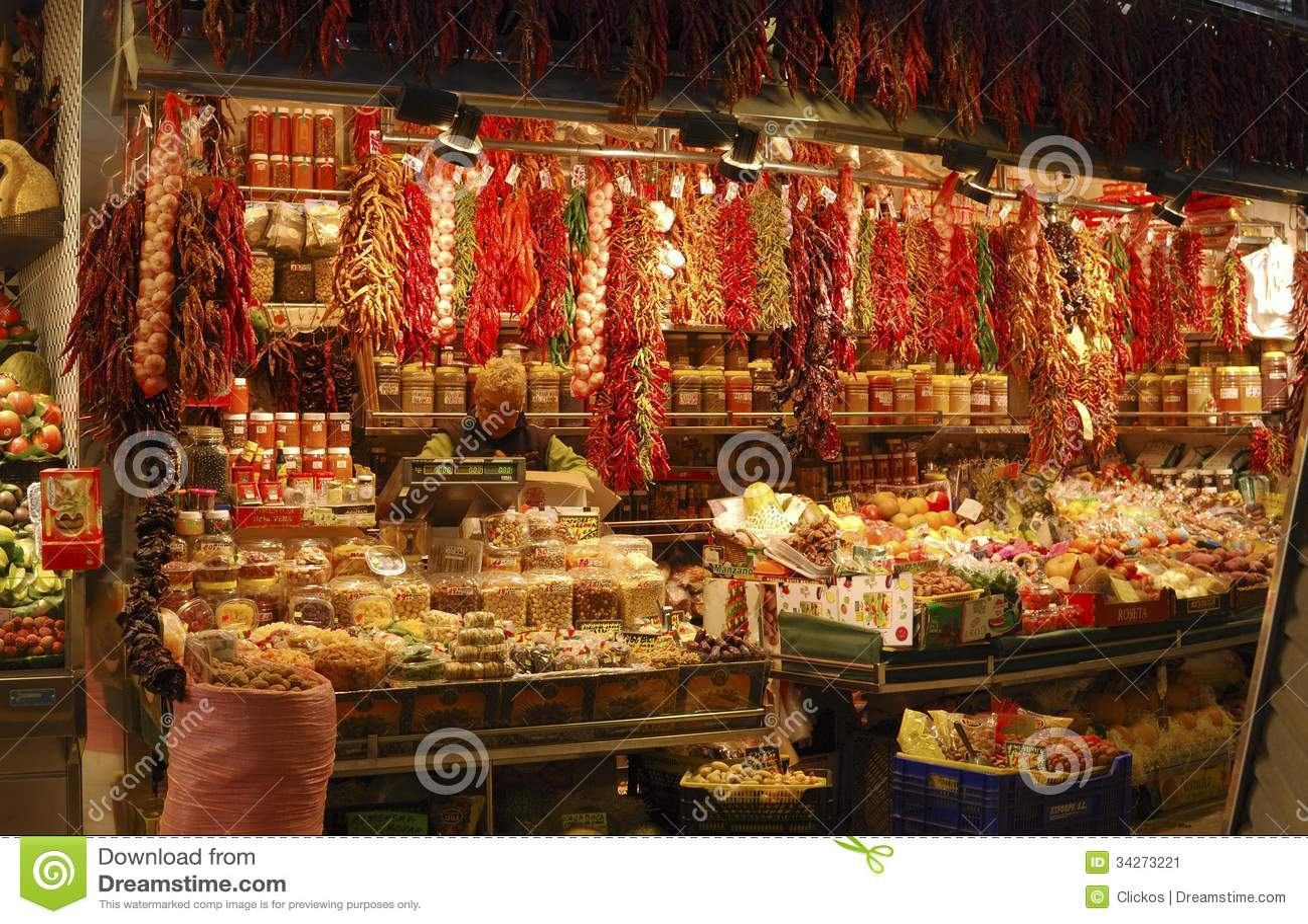Tienda de la charcuter a en mercado barcelona espa a - Mercados de segunda mano barcelona ...