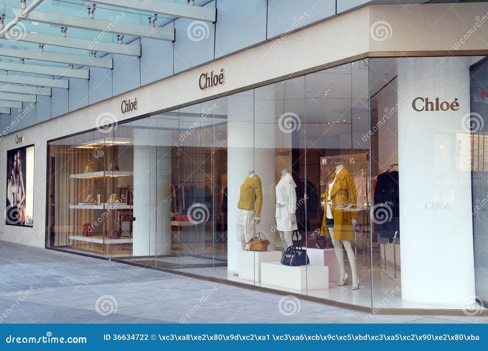 1cea753effda7 Tienda De La Moda De Chloe (Chloé) Fotografía editorial - Imagen de ...
