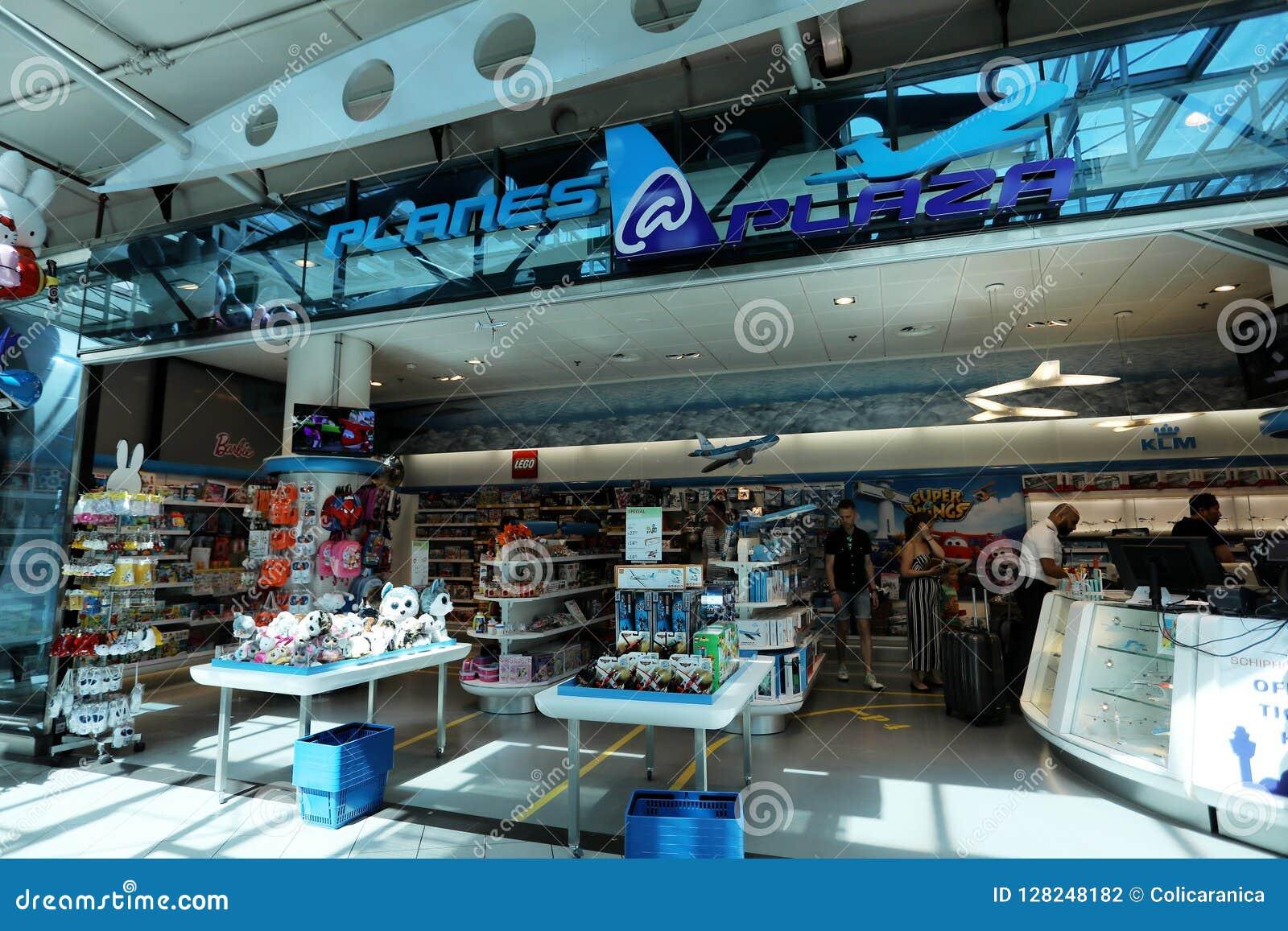 Tienda De La Plaza De Los Aviones En El Aeropuerto Schiphol