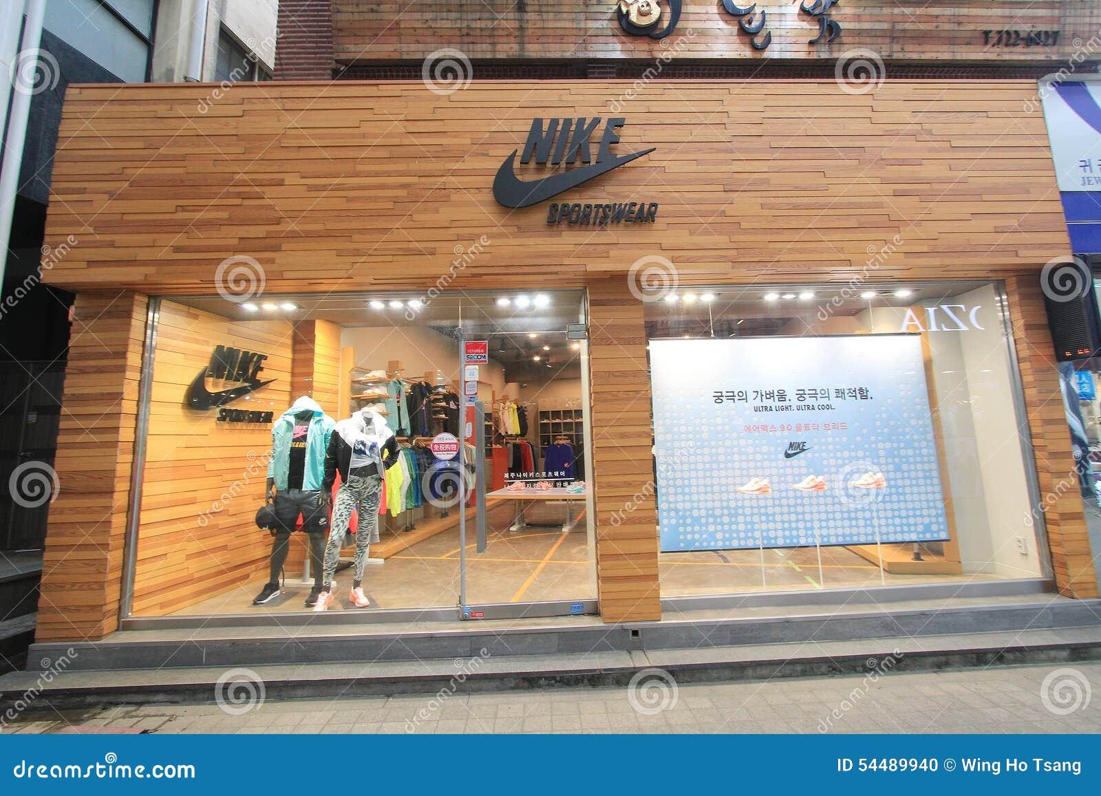 venta minorista código promocional precio de descuento Tienda De La Ropa De Deportes De Nike En Corea Del Sur ...