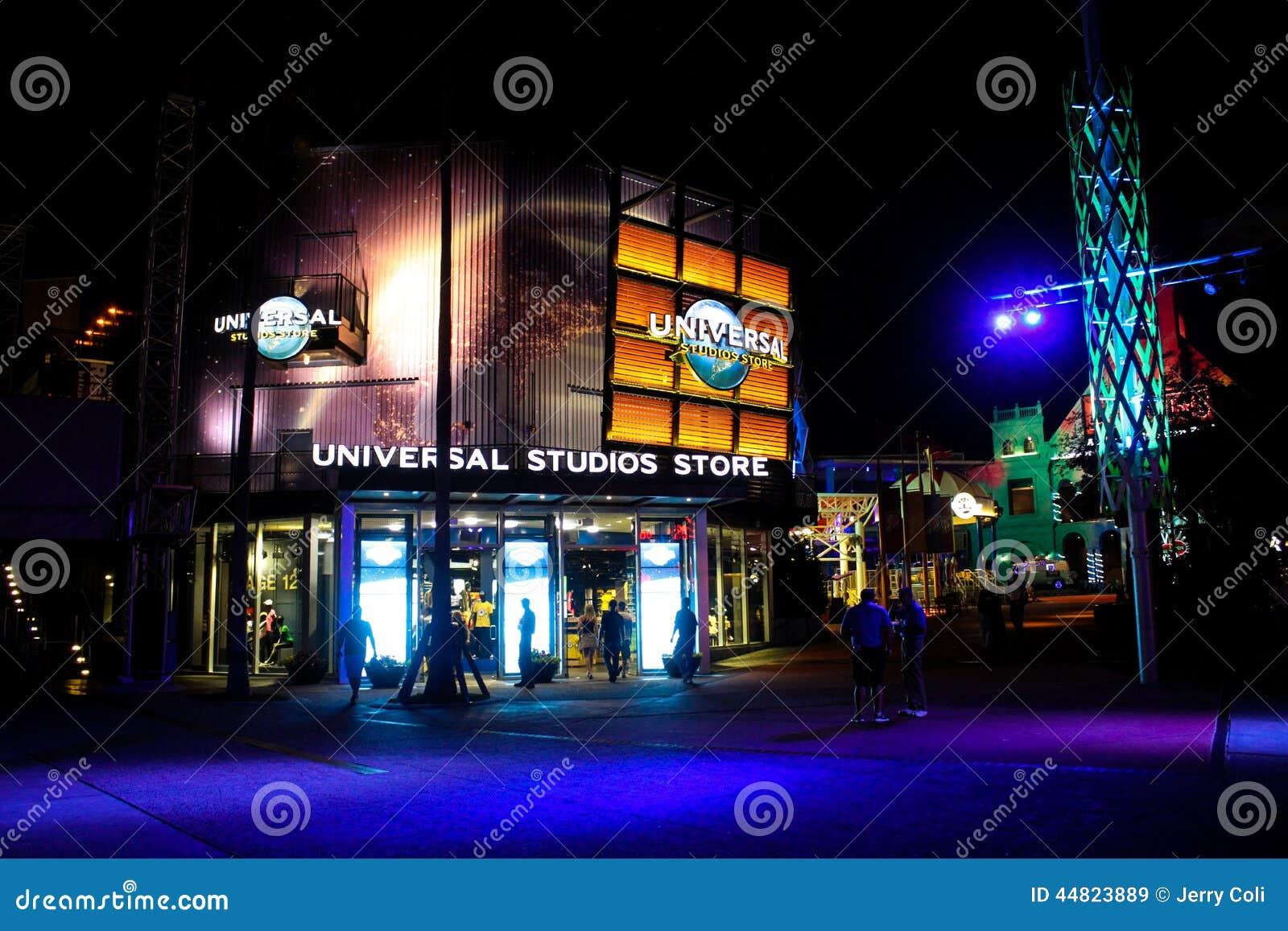 Tienda de los estudios universales en Orlando, la Florida