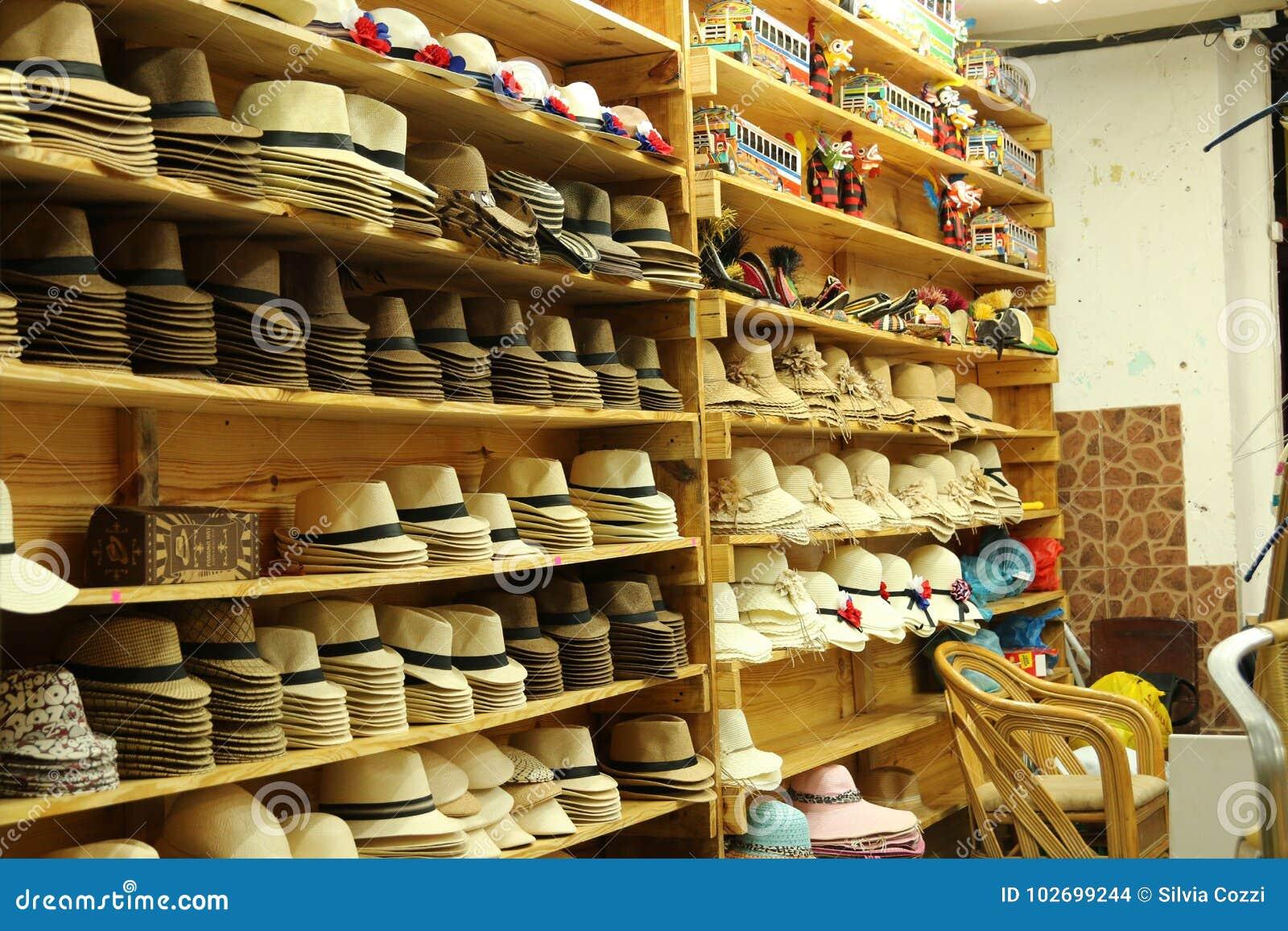 Tienda de sombrero en ciudad de Panamá