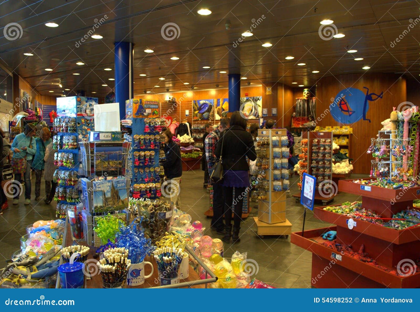 Tienda Del Acuario De Barcelona Fotografía editorial - Imagen de ...