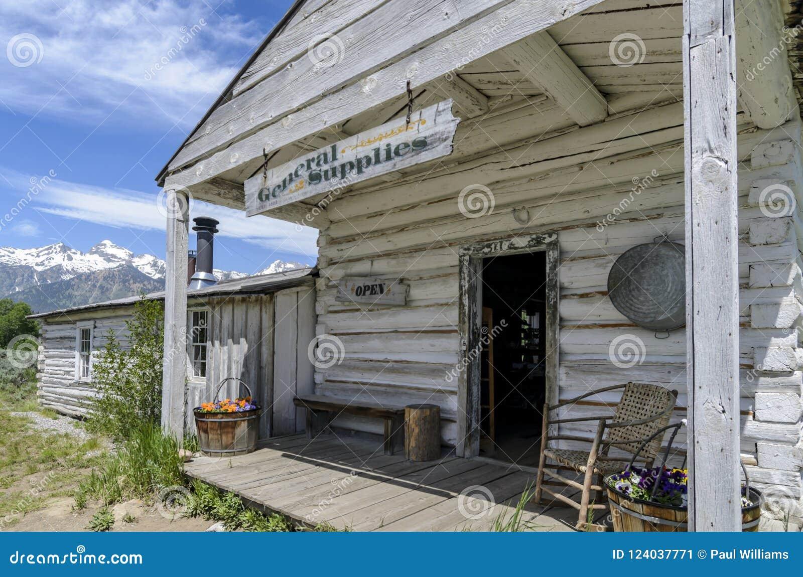 Tienda histórica Tetons magnífico de la fuente general de Menors
