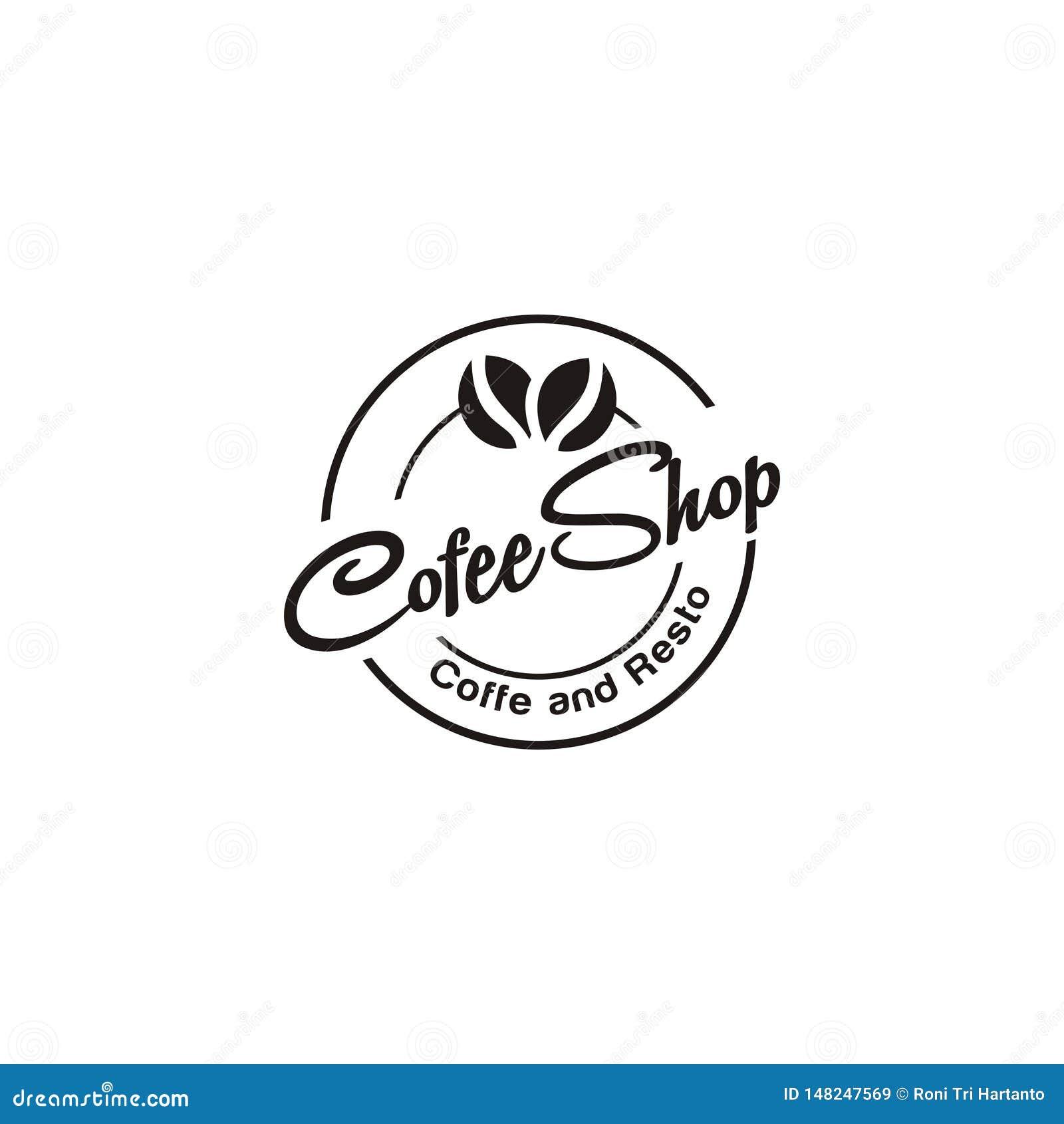 Tienda Logo Design Inspiration Del Cafe De Cofee Ilustracion Del Vector Ilustracion De Logo Design 148247569