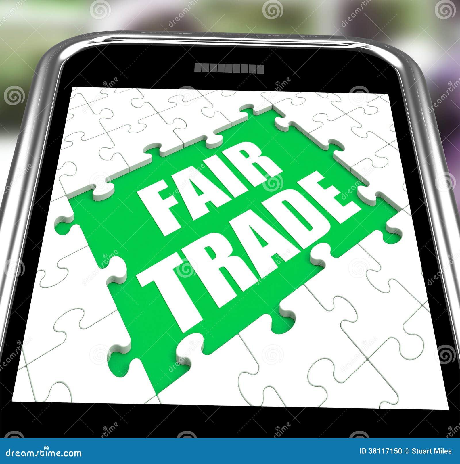Tienda o compra Fairtrade de los medios de Smartphone del comercio justo