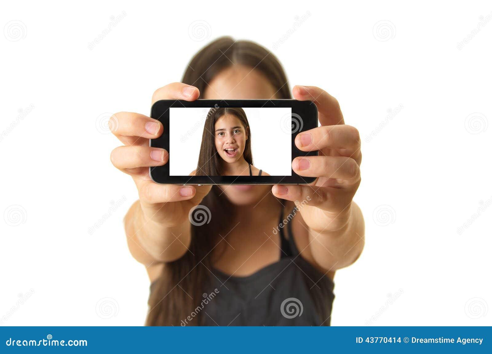 Tiener die een selfie nemen