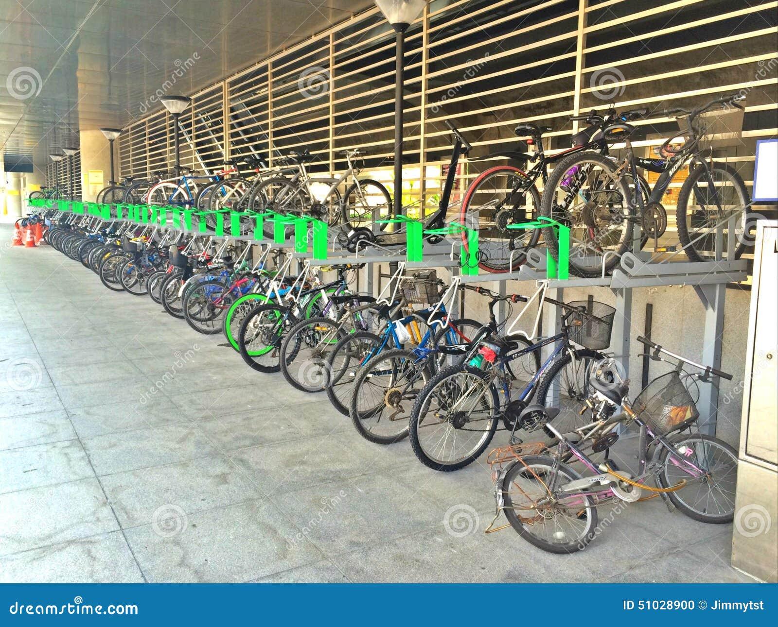 Editorial Stock Photo 2 Tier Bicycle Racks