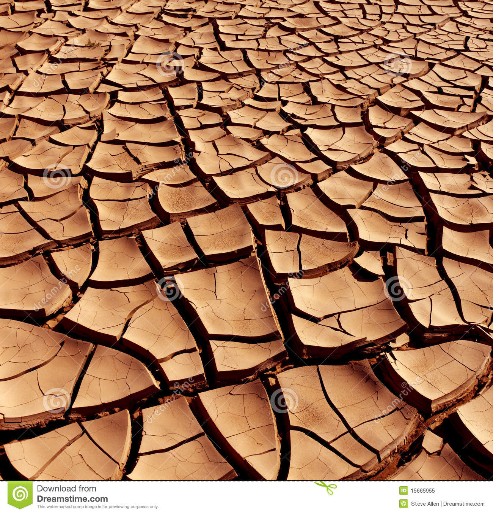 Tierra agrietada seca - desierto