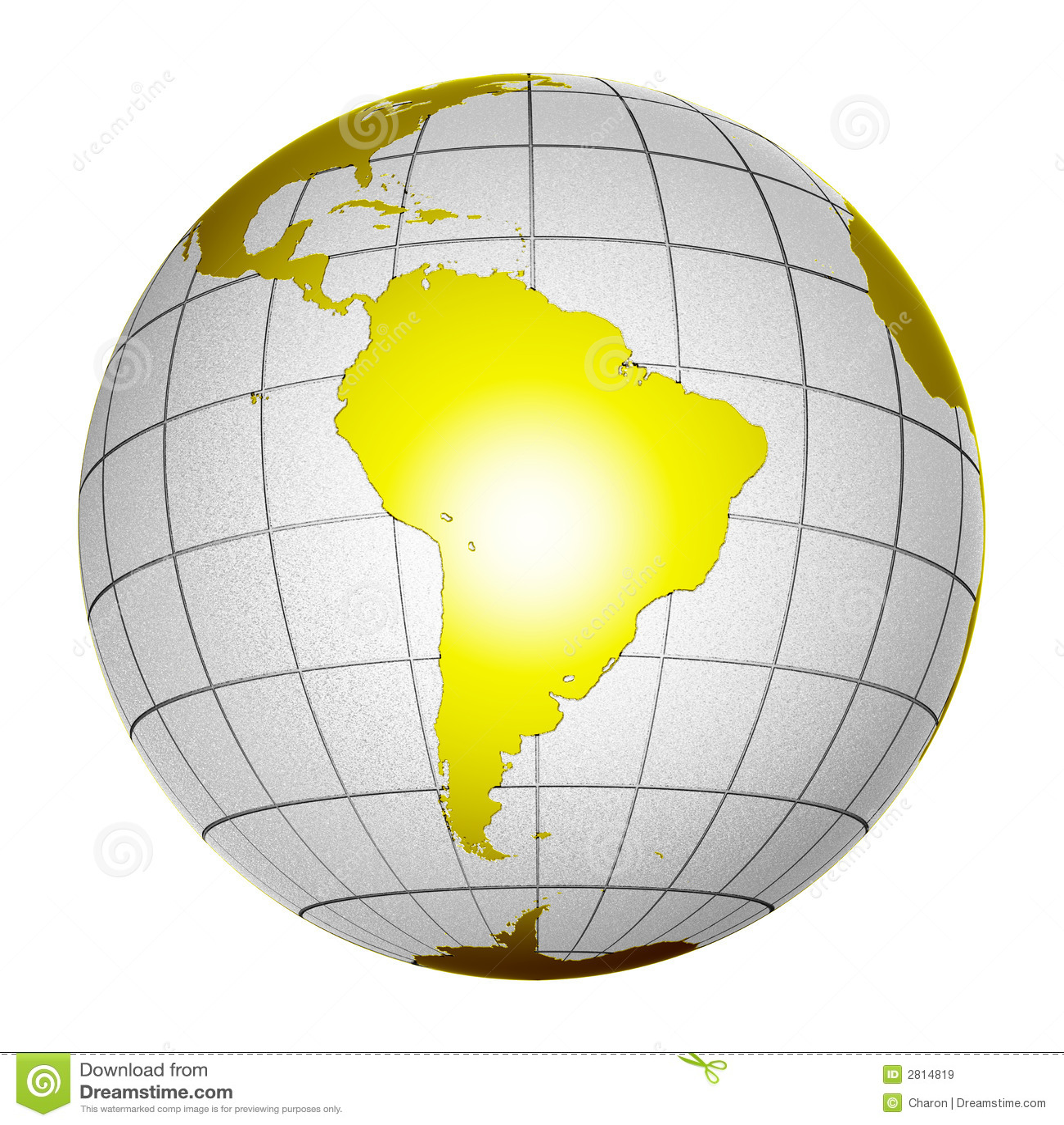 Tierra aislada 3D del globo del planeta