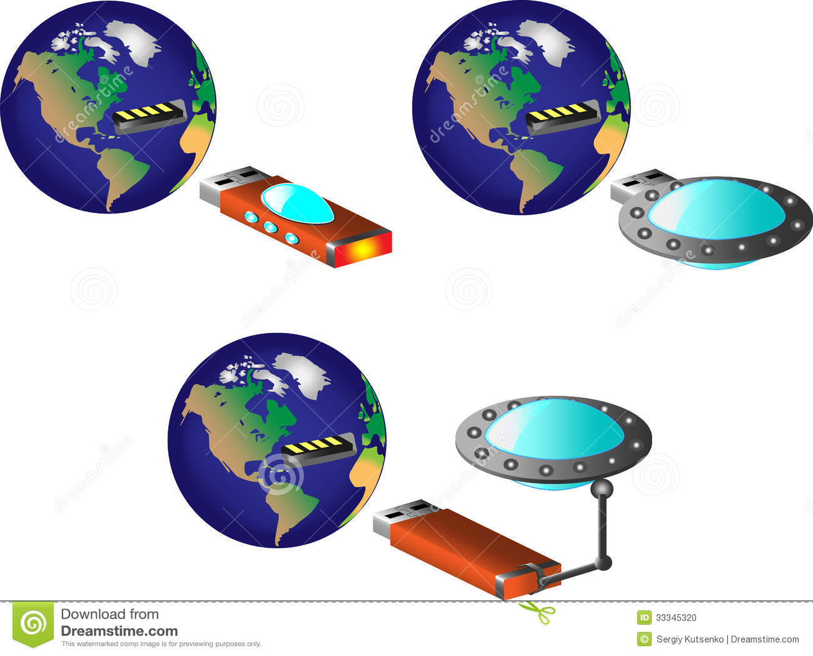 Tierra con el puerto de usb