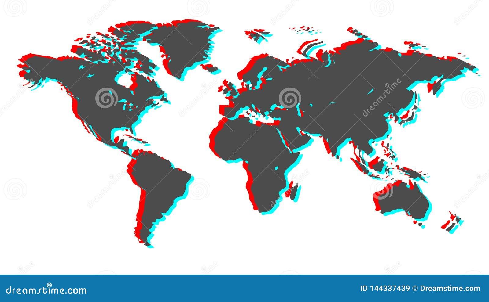 Tierra 3d Imagen del vector