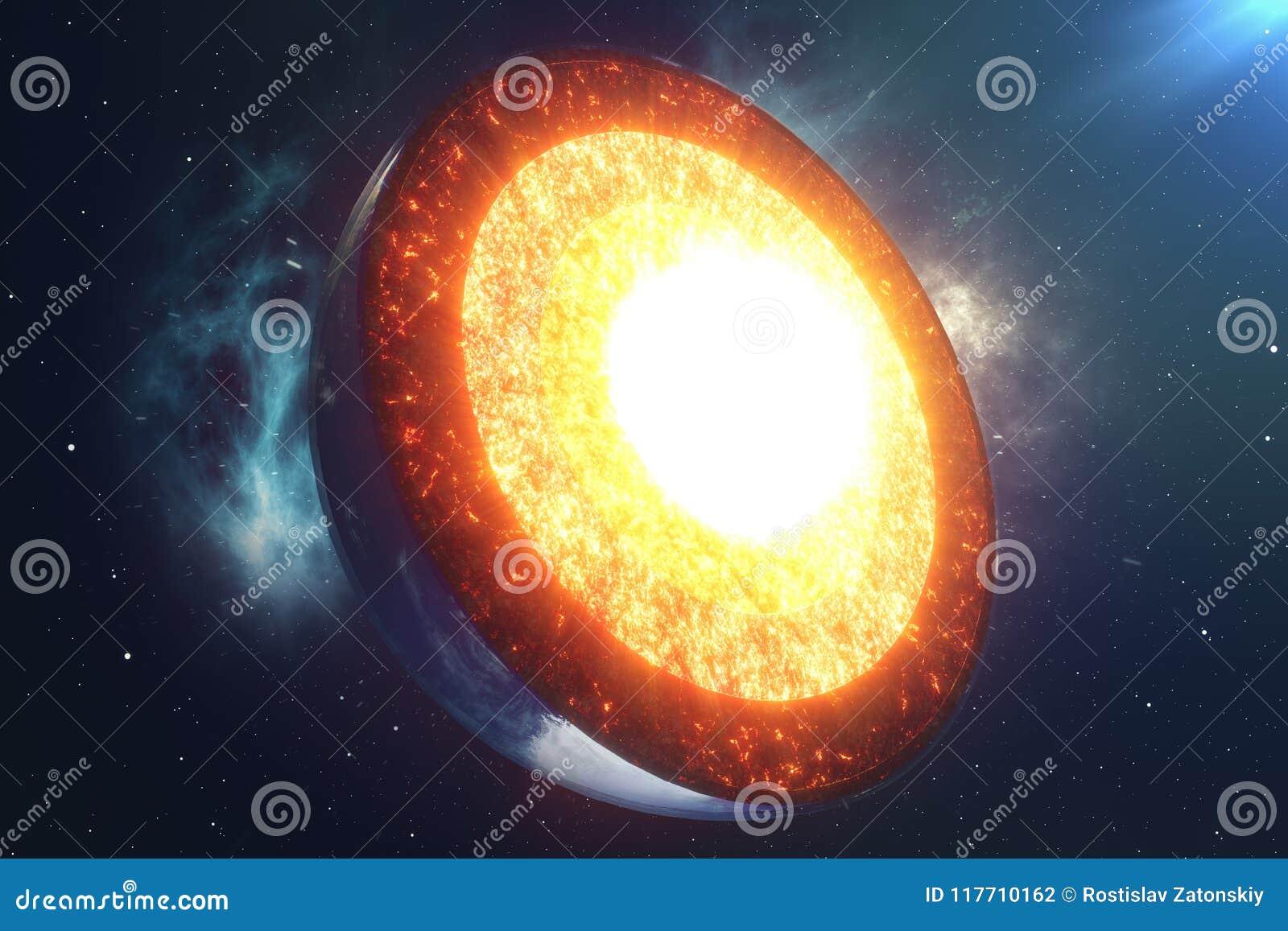 Tierra de la base de la estructura Capas de la estructura de la tierra La estructura del corte transversal de la tierra de la cor