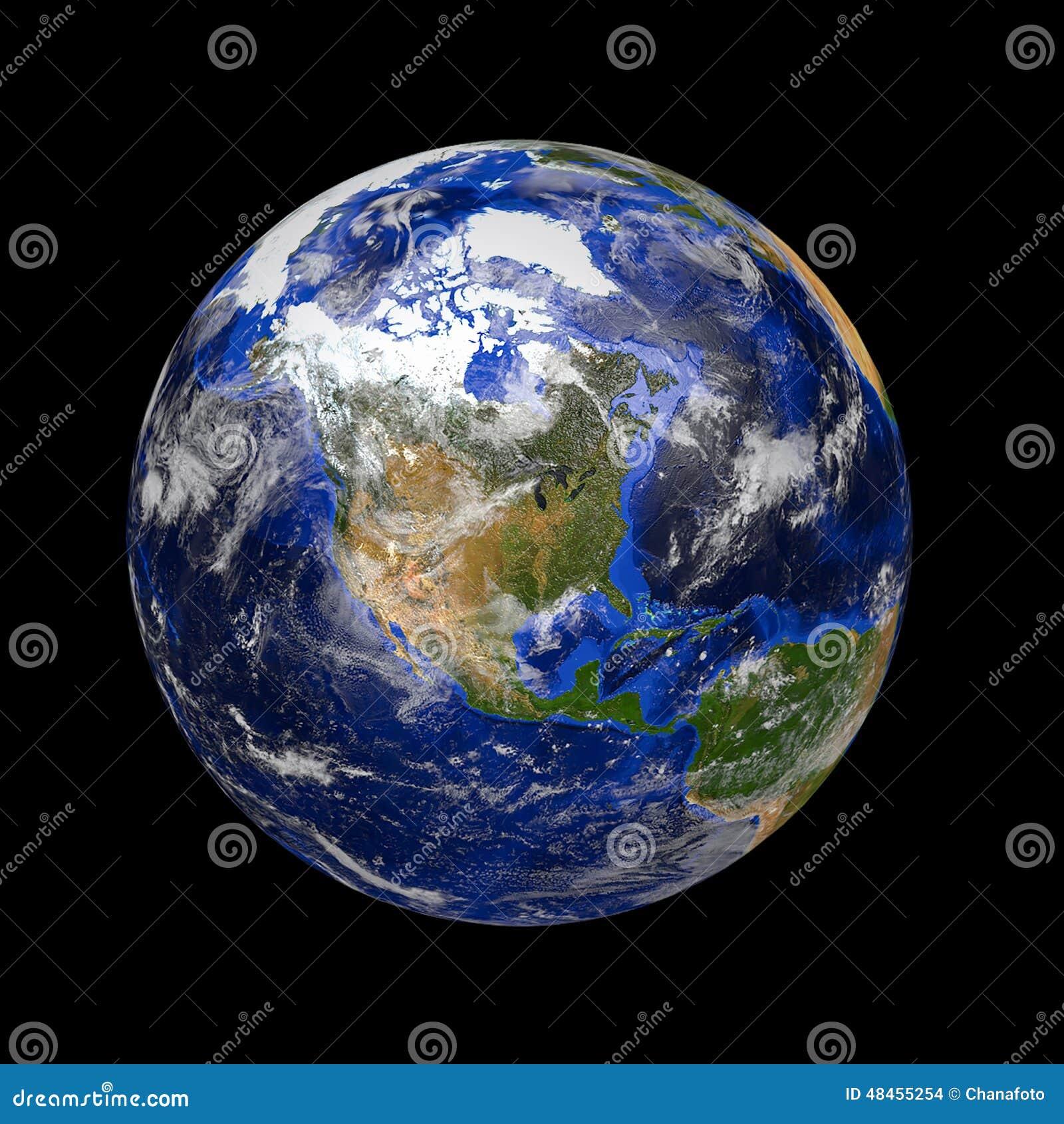 Tierra de mármol azul del planeta