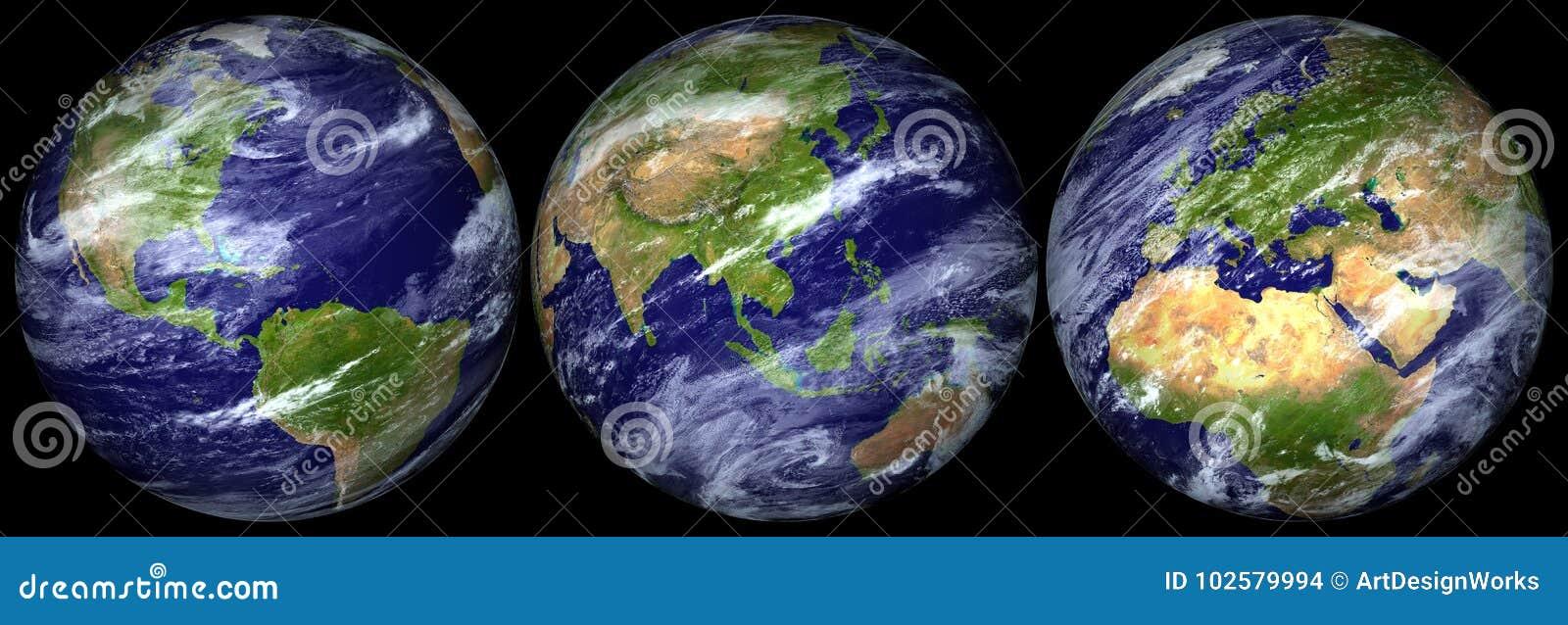 Tierra del planeta aislada - png