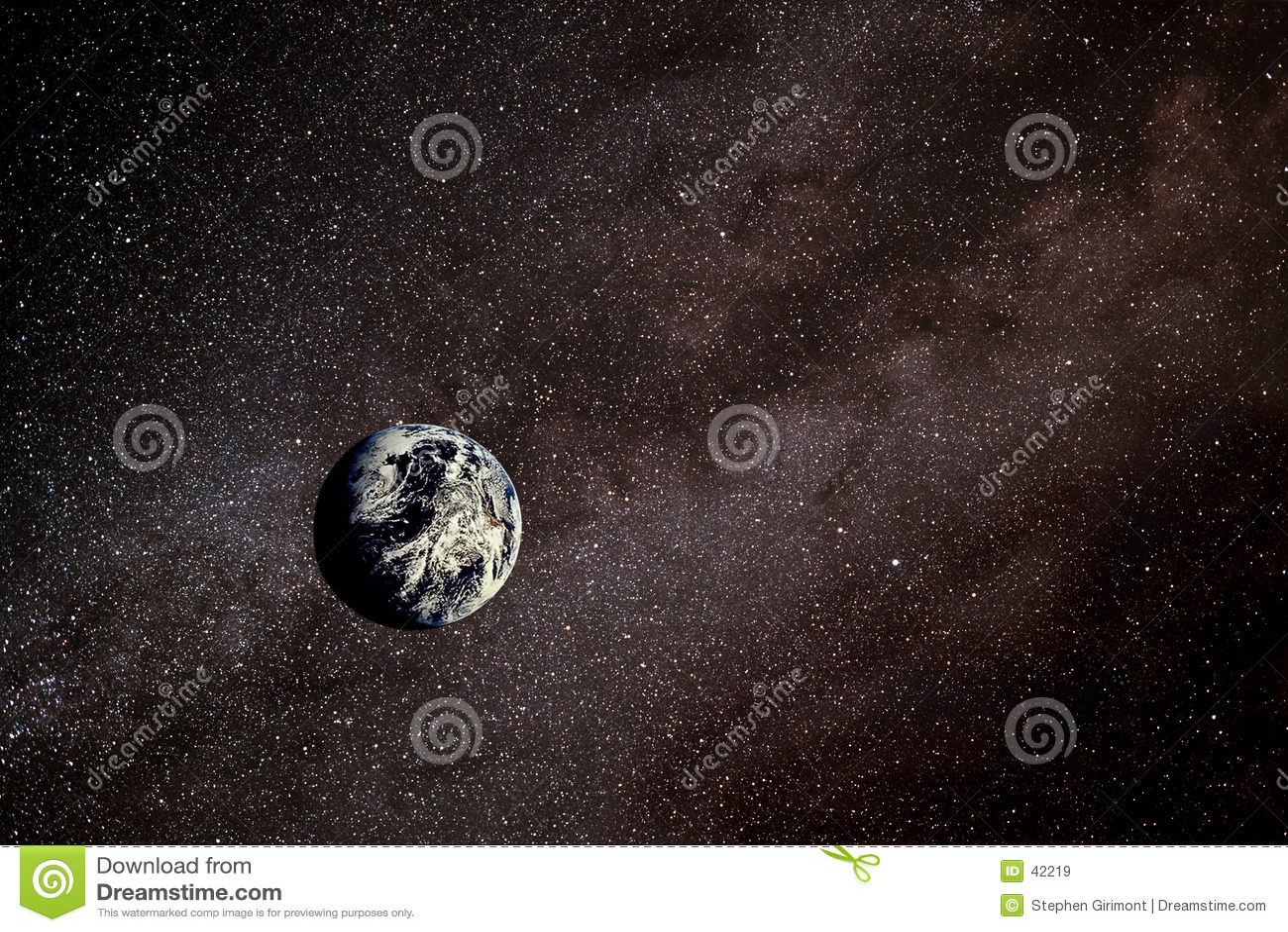 Download Tierra en espacio stock de ilustración. Ilustración de nube - 42219