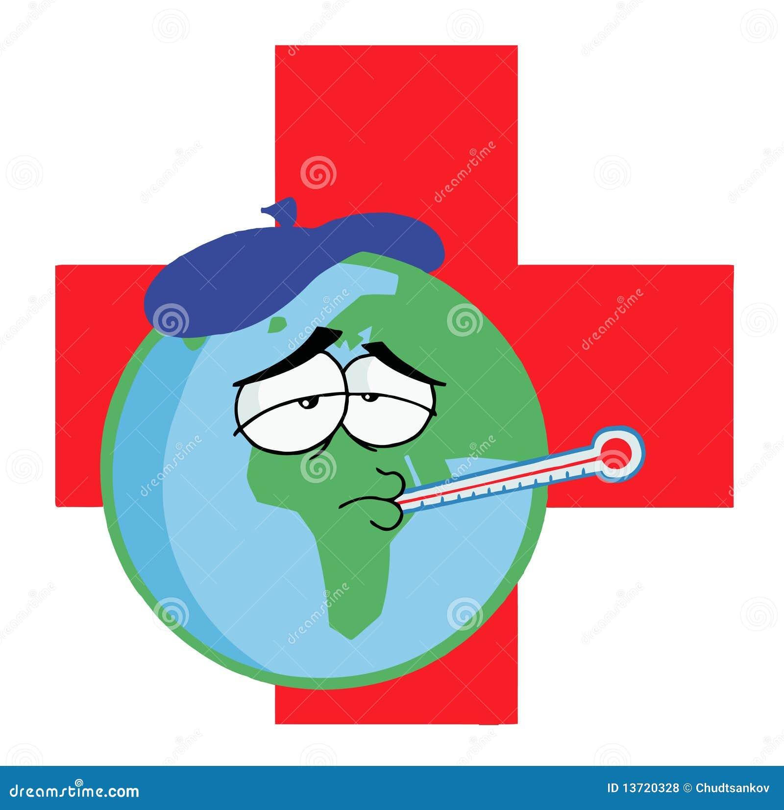 Sick Earth Cartoon
