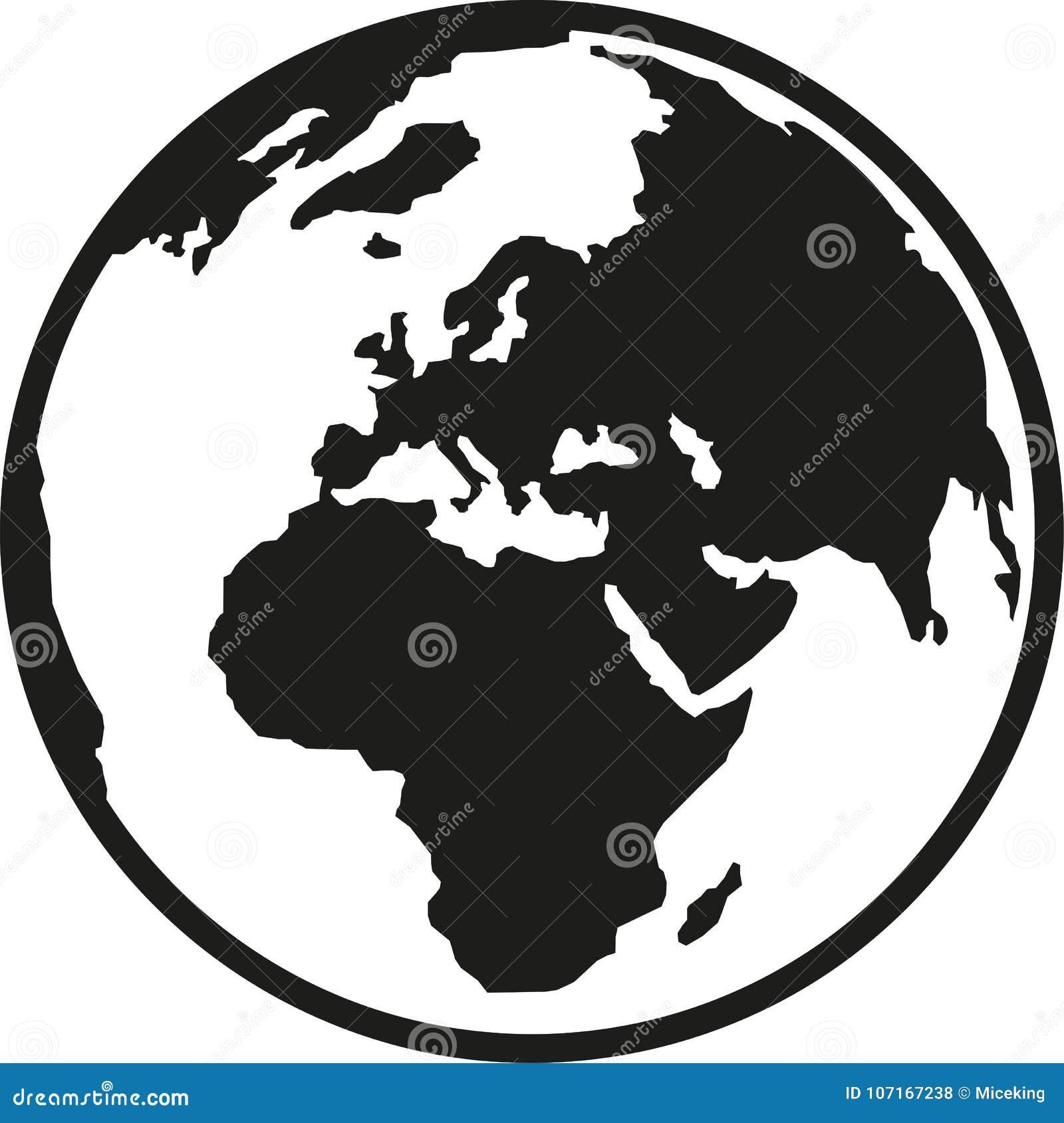 Tierra Europa y África del planeta