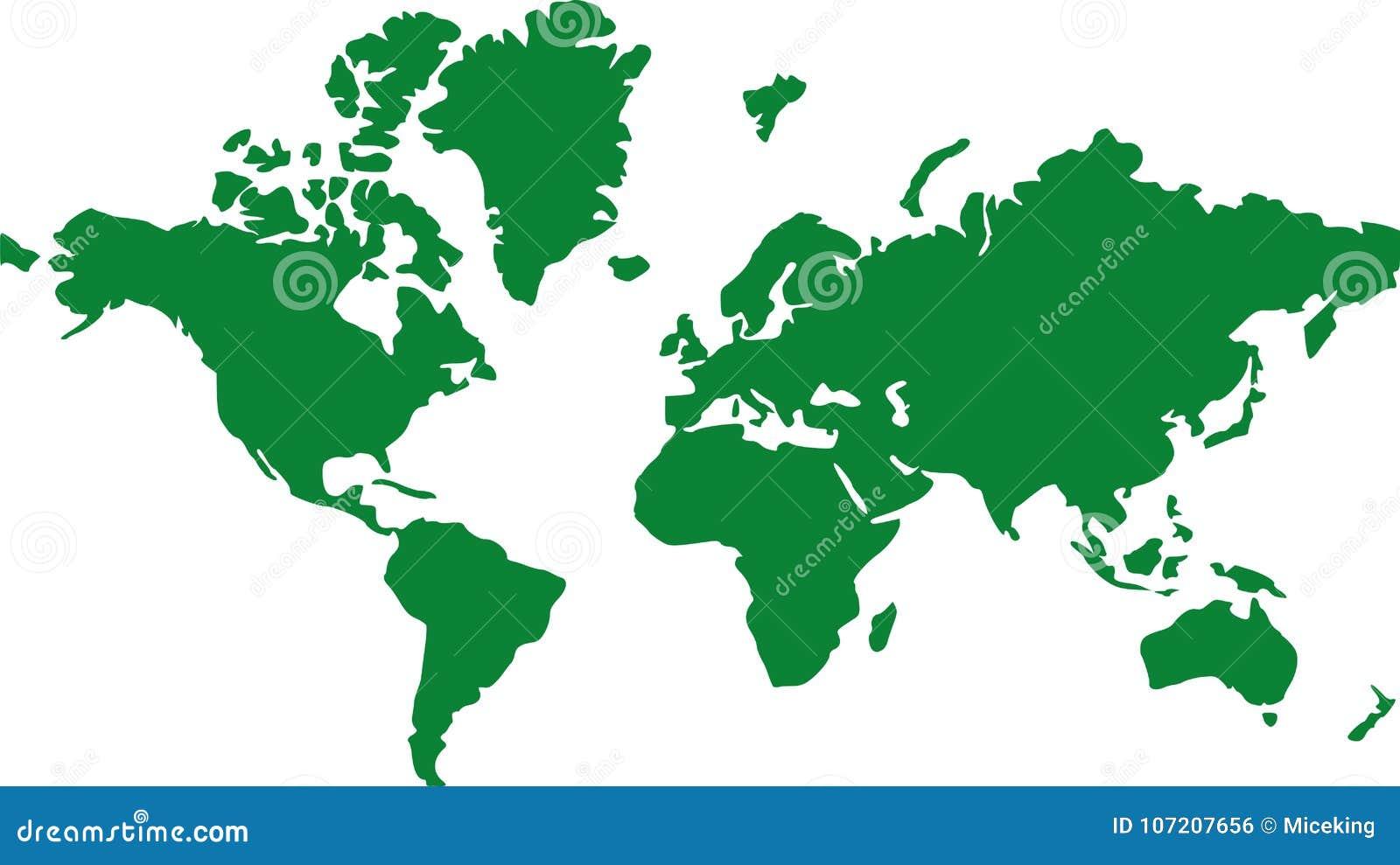 Tierra global del mapa del mundo