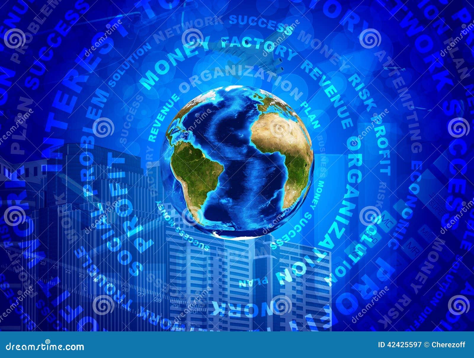 Tierra, palabras del negocio y dinero