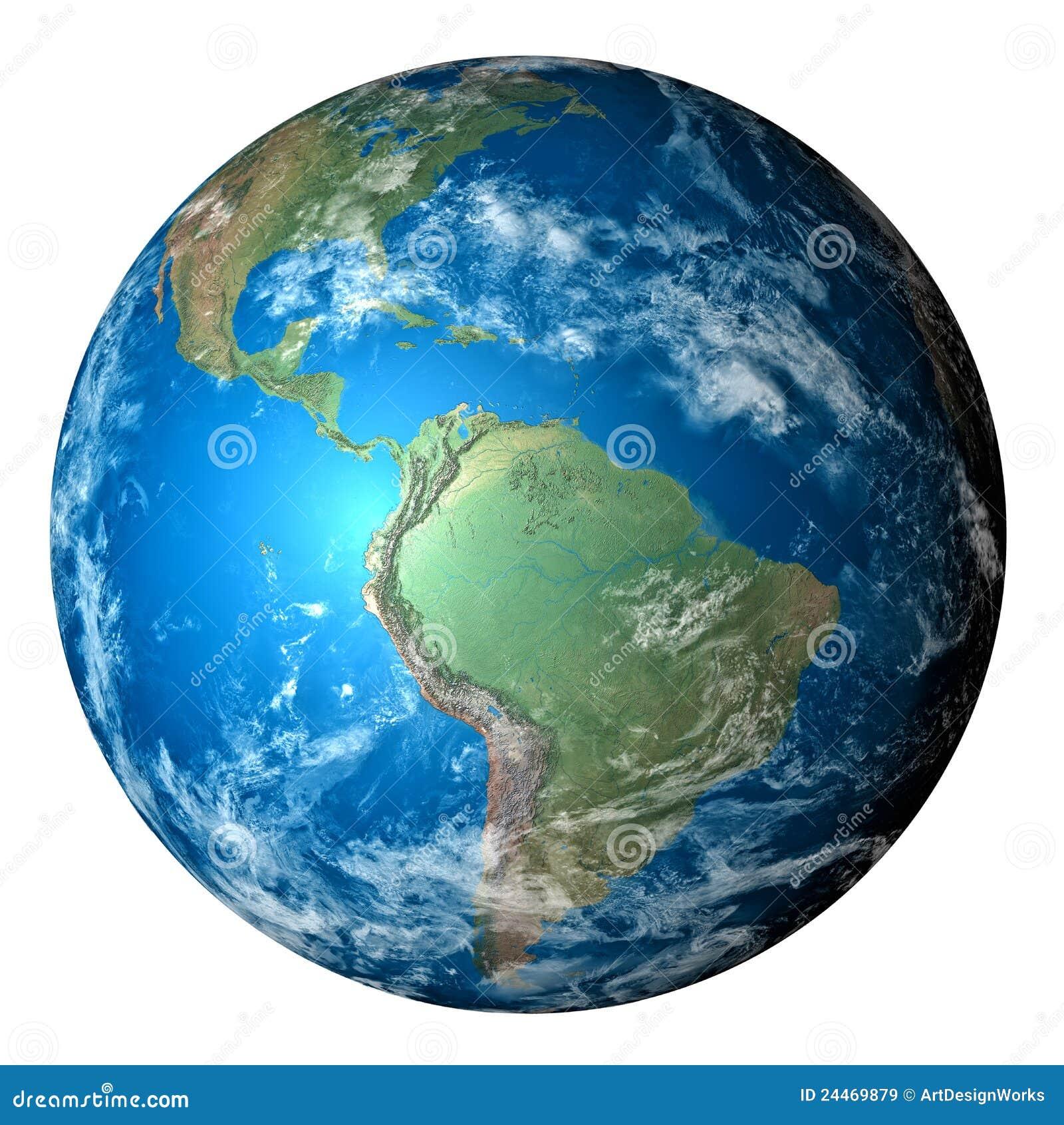 Tierra realista del planeta