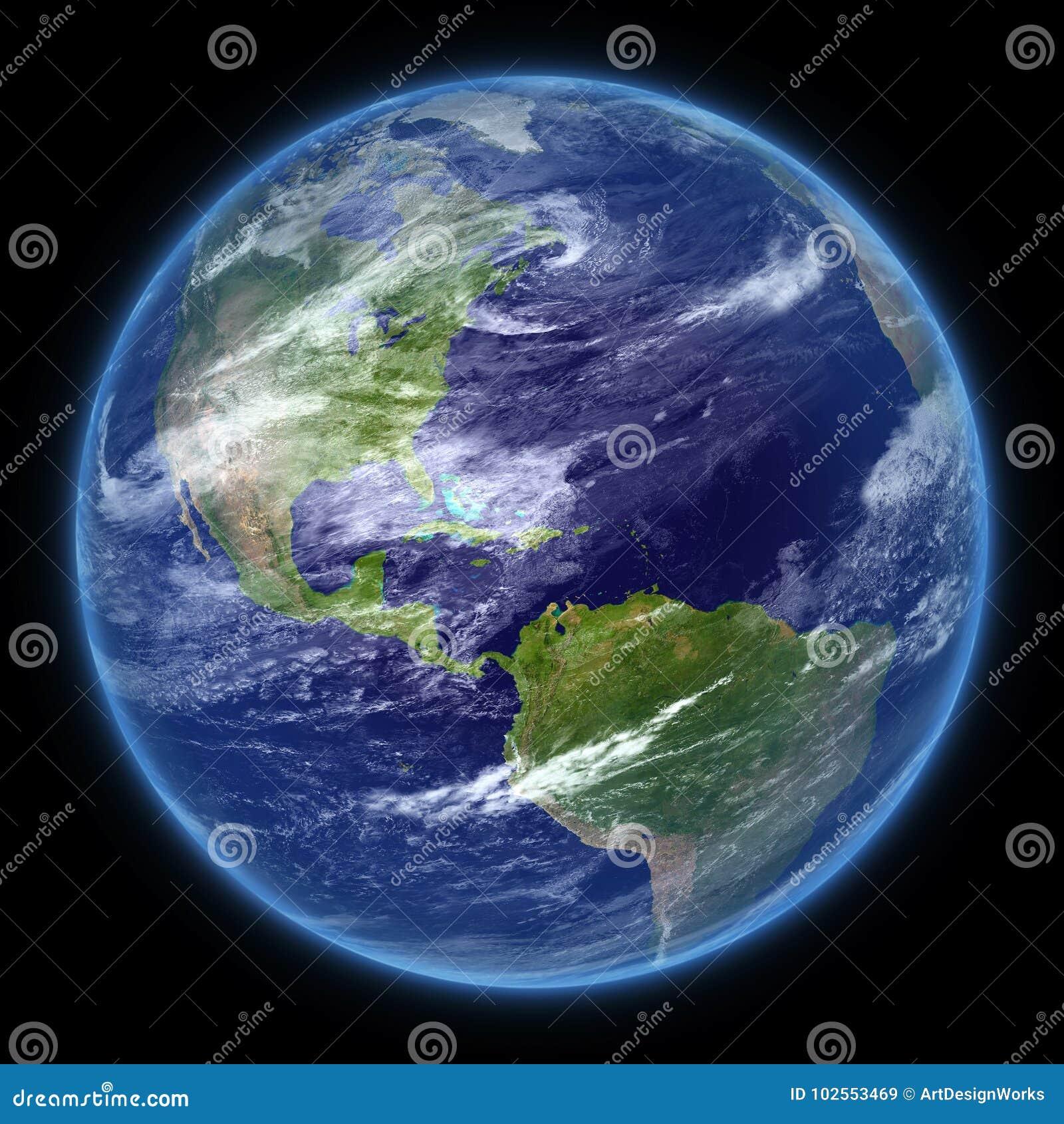 Tierra realista del planeta de la foto aislada - png