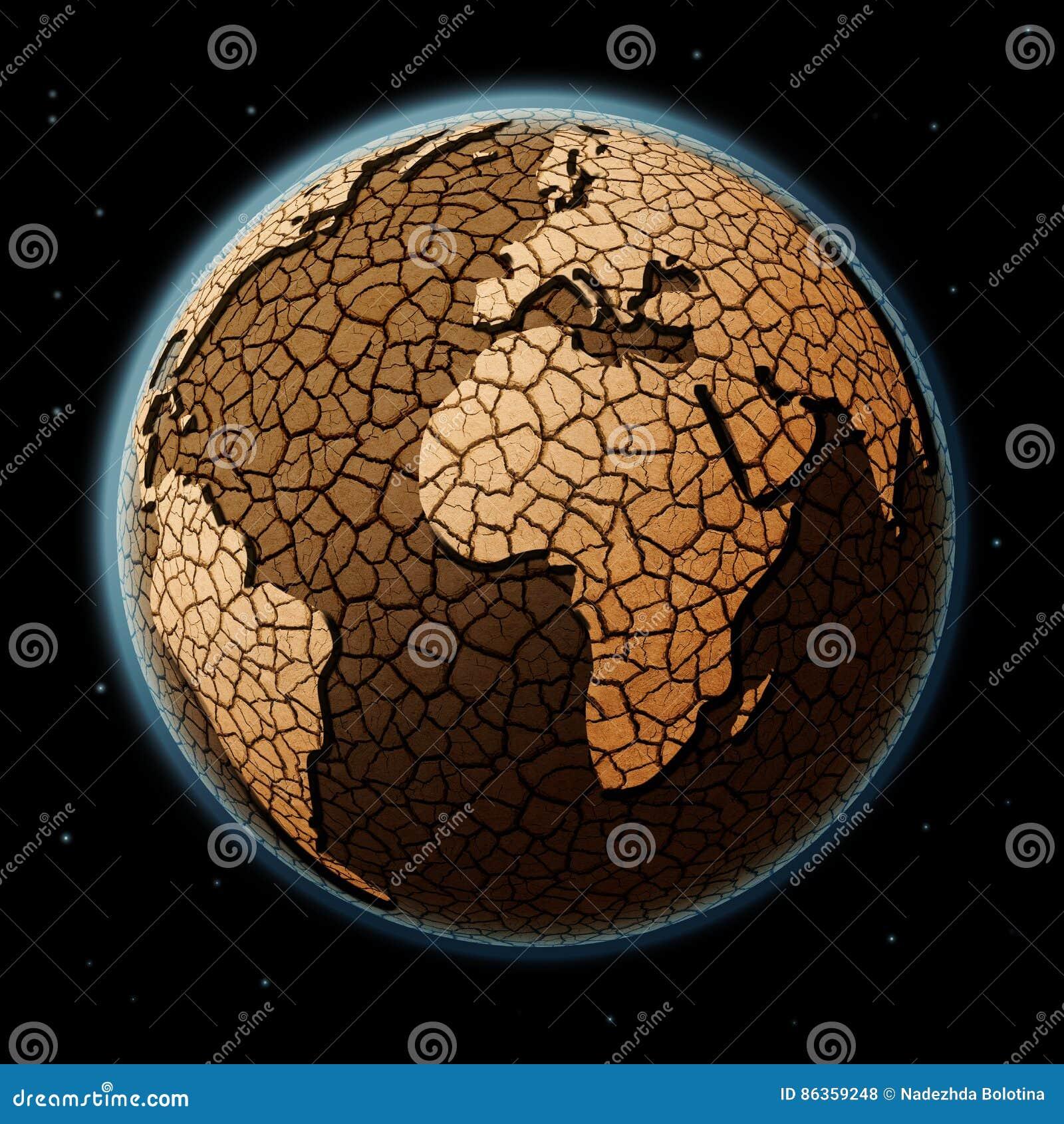 Tierra seca en espacio