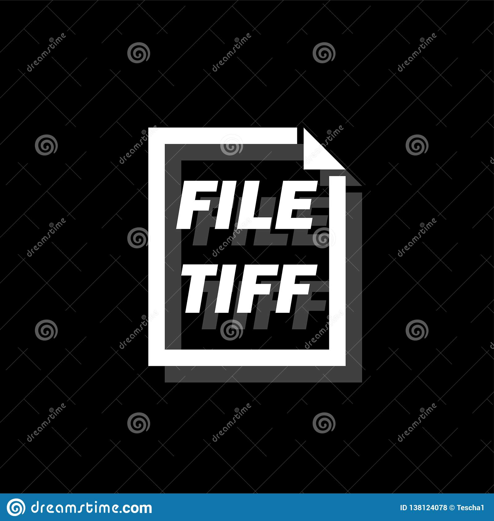 TIFF File icon flat