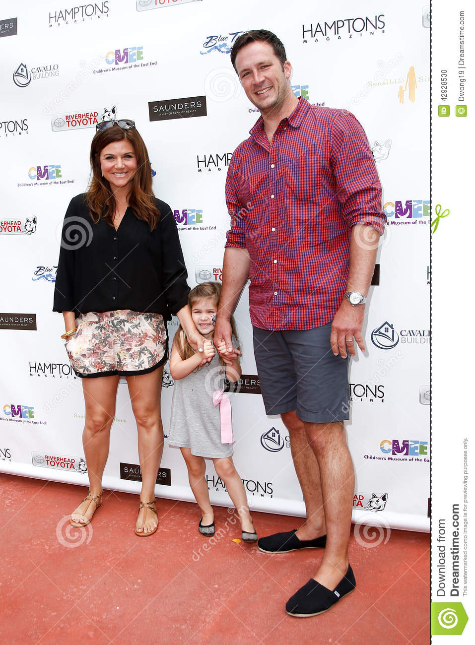 Tiffani Thiessen, Harper Smith, Brady Smith Editorial Image - Image ...