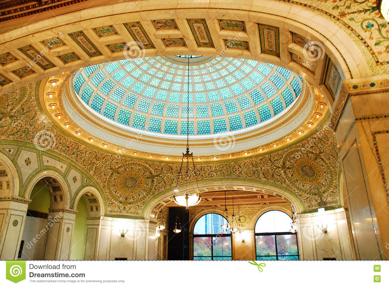 The Tiffany Ceiling of the Chicago Cultural Center